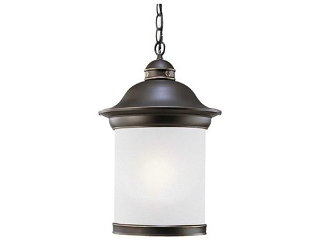 Sea Gull Lighting Hermitage Antique Bronze Fluorescent Outdoor Hanging Light