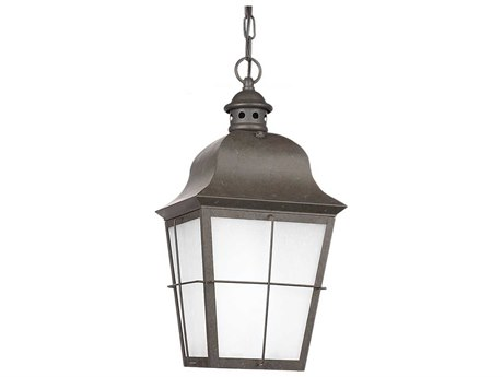 Sea Gull Lighting Chatham Oxidized Bronze Fluorescent Outdoor Hanging Light
