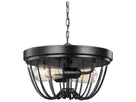 Sea Gull Lighting Kelvyn Park Stardust Two-Light 13'' Wide Convertible Flush Mount Ceiling Light