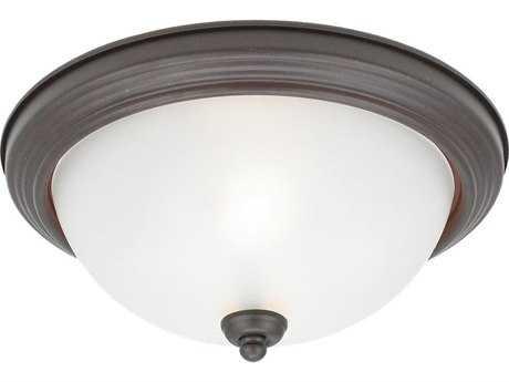 Sea Gull Lighting Ceiling Misted Bronze Two-Light 12.5'' Wide Flush Mount Light