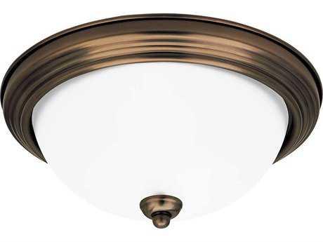 Sea Gull Lighting Ceiling Russet Bronze Two-Light 12.5'' Wide Flush Mount Light