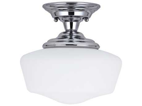 Sea Gull Lighting Academy Chrome 11.5'' Wide LED Semi-Flush Mount Light