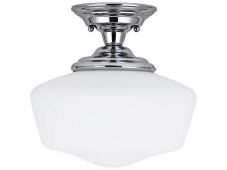 Sea Gull Lighting Academy Chrome 13'' Wide LED Semi-Flush Mount Light
