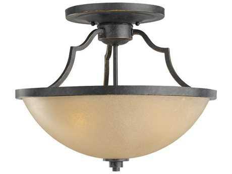 Sea Gull Lighting Roslyn Flemish Bronze Three-Light 15.75'' Wide Convertible Pendant & Semi-Flush Mount Light