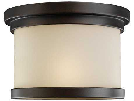 Sea Gull Lighting Winnetka Misted Bronze Outdoor Ceiling Light
