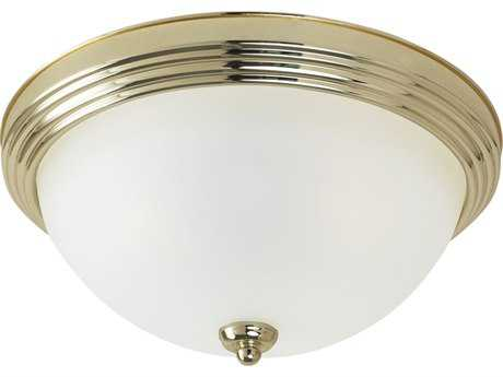 Sea Gull Lighting Ceiling Polished Brass 10.5'' Wide Flush Mount Light