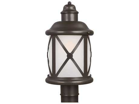 Sea Gull Lighting Lakeview Antique Bronze Fluorescent Outdoor Post
