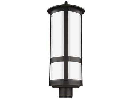 Sea Gull Lighting Groveton Antique Bronze 22.88'' Wide Outdoor Post Light with Opal Cased Etched Glass
