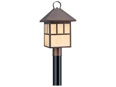 Sea Gull Lighting Prairie Statement Antique Bronze Fluorescent Outdoor Post