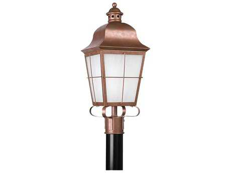 Sea Gull Lighting Chatham Weathered Copper Outdoor Post
