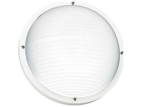 Sea Gull Lighting Bayside White Fluorescent Outdoor Wall & Ceiling Light