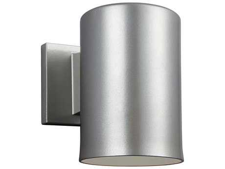 Sea Gull Lighting Bullets Painted Brushed Nickel LED Outdoor Wall Light