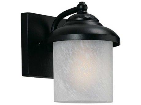 Sea Gull Lighting Yorktown Black Outdoor Wall Light