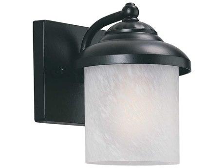 Sea Gull Lighting Yorktown Black Outdoor Wall Light with Photocell