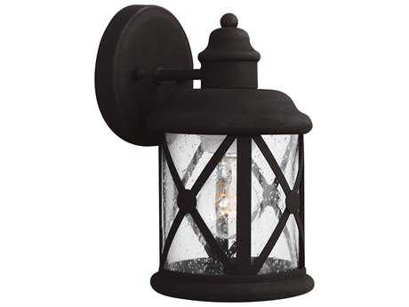 Sea Gull Lighting Lakeview Black Outdoor Wall Light
