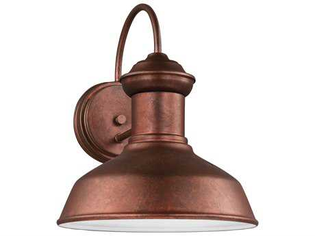 Sea Gull Lighting Fredricksburg Weathered Copper 11.94'' Wide LED Outdoor Wall Sconce