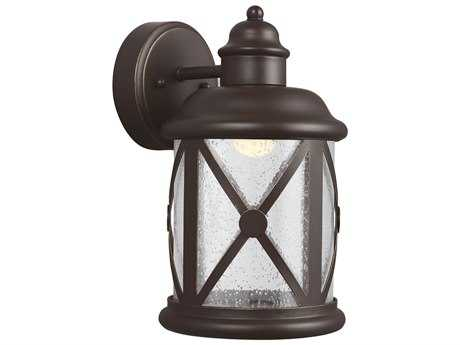 Sea Gull Lighting Lakeview Antique Bronze LED Outdoor Wall Light
