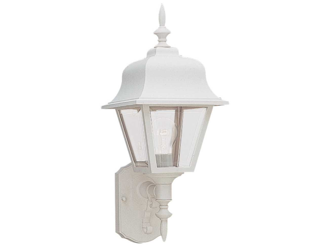 Sea Gull Lighting Painted Polycarbonate White Outdoor Wall Light SGL876515