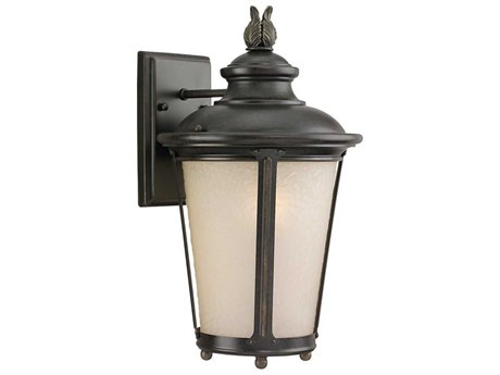 Sea Gull Lighting Cape May Burled Iron Energy Star Outdoor Wall Light