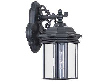 Sea Gull Lighting Hill Gate Black Outdoor Wall Light