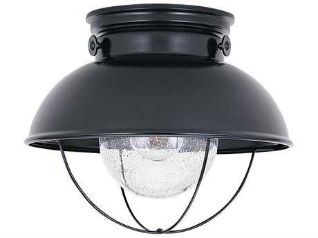 Sea Gull Lighting Sebring Black LED Outdoor LED Flush Mount Light