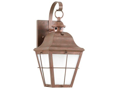Sea Gull Lighting Chatham Weathered Copper Fluorescent Outdoor Wall Light