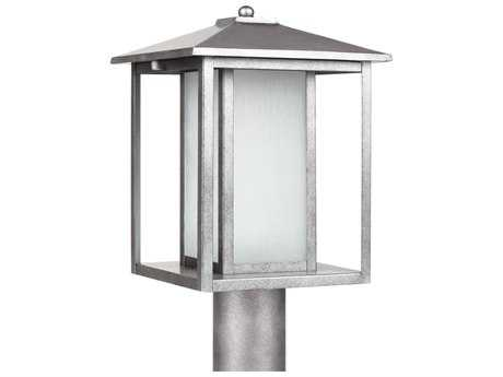 Sea Gull Lighting Hunnington Weathered Pewter Fluorescent Outdoor Post