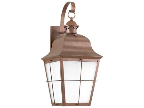 Sea Gull Lighting Chatham Weathered Copper Outdoor Wall Light