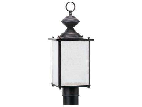 Sea Gull Lighting Jamestowne Textured Rust Patina Outdoor Post