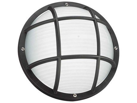 Sea Gull Lighting Bayside Black Fluorescent Outdoor Wall & Ceiling Light