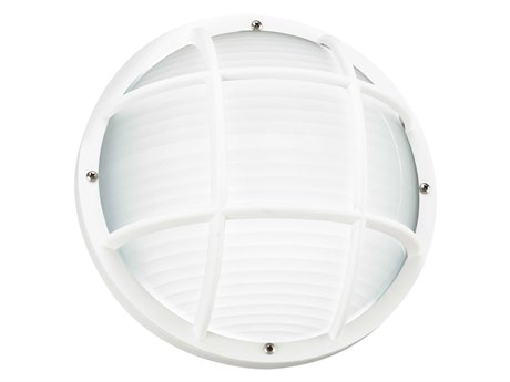 Sea Gull Lighting Bayside White Fluorescent Outdoor Wall & Ceiling Light