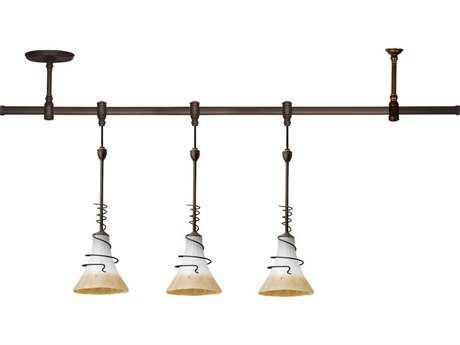 Sea Gull Lighting Ambiance Lighting Systems Antique Bronze / Ember Glow Three-Light Saratoga Pendant Rail Kit