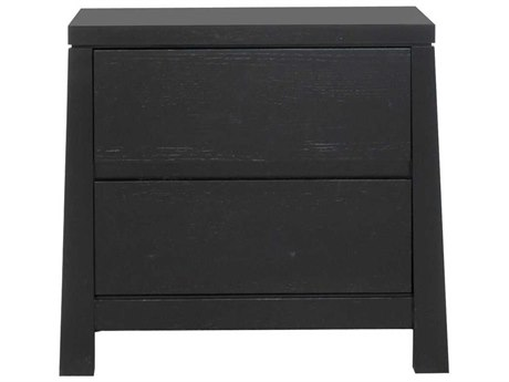 Star International Furniture Elements Motif Matte Black Oak 24'' x 16'' Nightstand