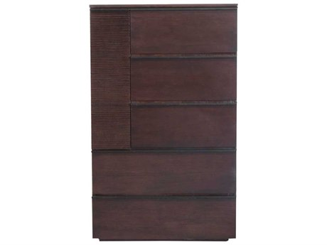 Star International Furniture Elements Del Mar Chocolate Oak 29'' x 21'' Five-Drawer Chest of Drawers