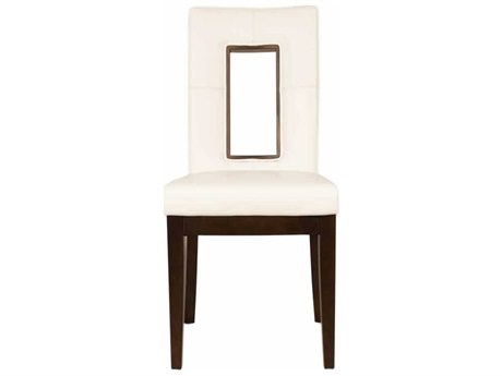 Star International Furniture Basix Portico Dark Set of Two Wenge Bonded Leather Solid Wood Dining Side Chairs