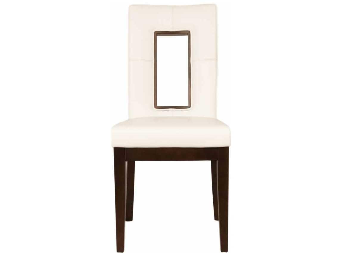 Star International Furniture Basix Portico Dark Wenge Bonded Leather Solid Wood Set Of 2 Dining