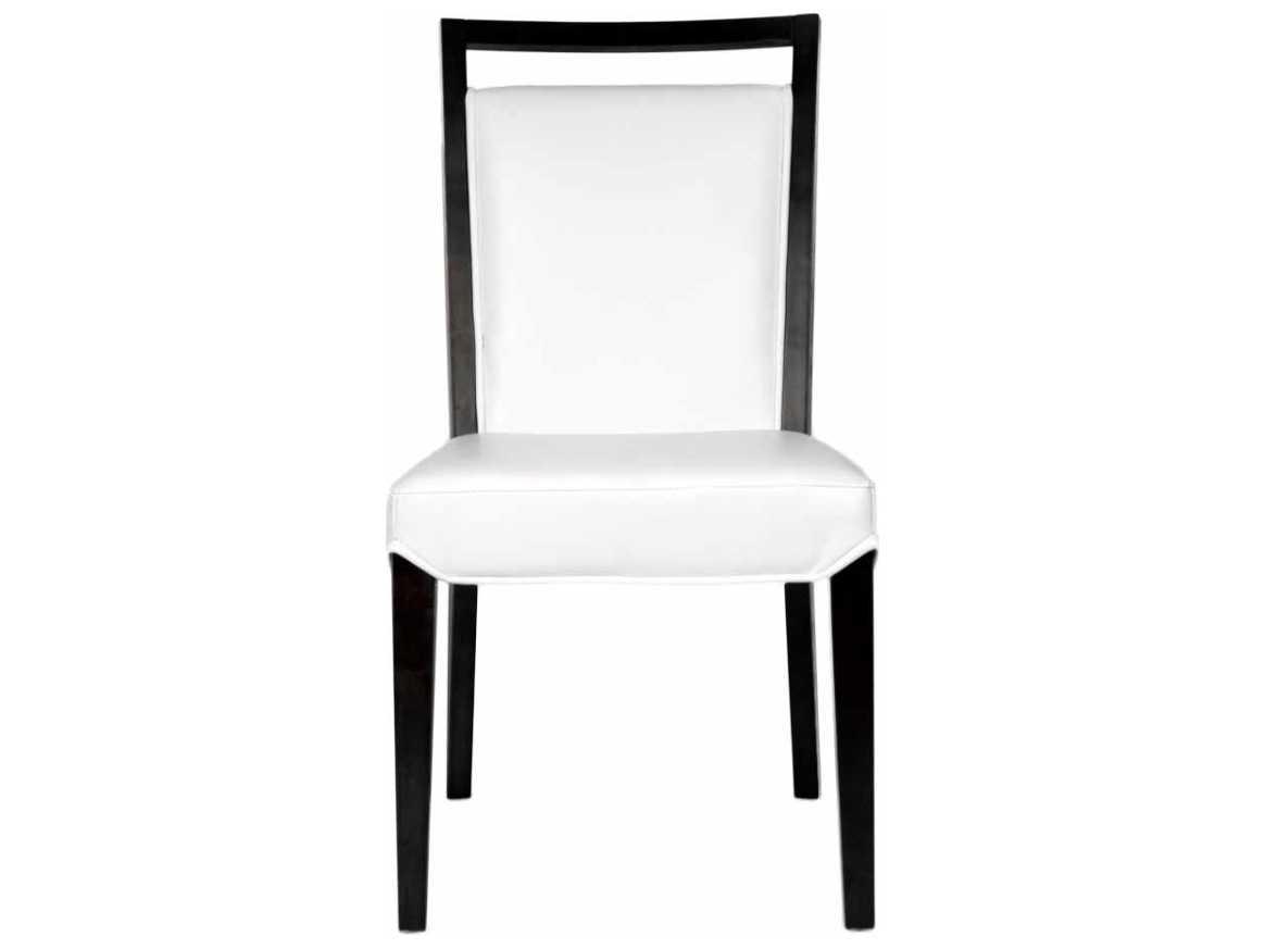 Star International Furniture Basix Enzo Dark Walnut White Bonded Leather Solid Wood Set Of 2