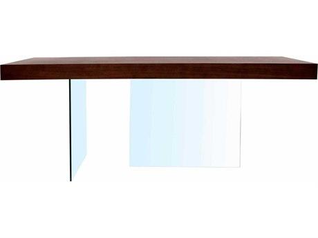 Star International Furniture Cleo Blain Dark Walnut Wood & Glass 78'' x 39'' Rectangular Dining Table