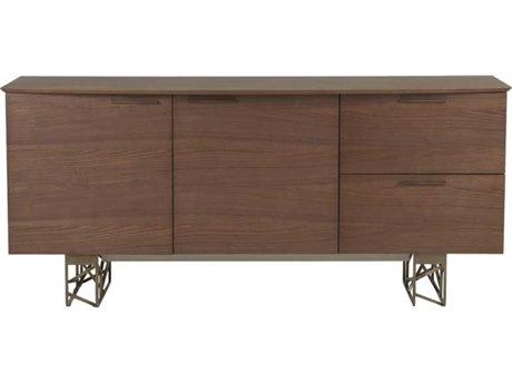 Star International Furniture Cleo Oro Dark Walnut / Antique Gold 71'' x 22'' Buffet
