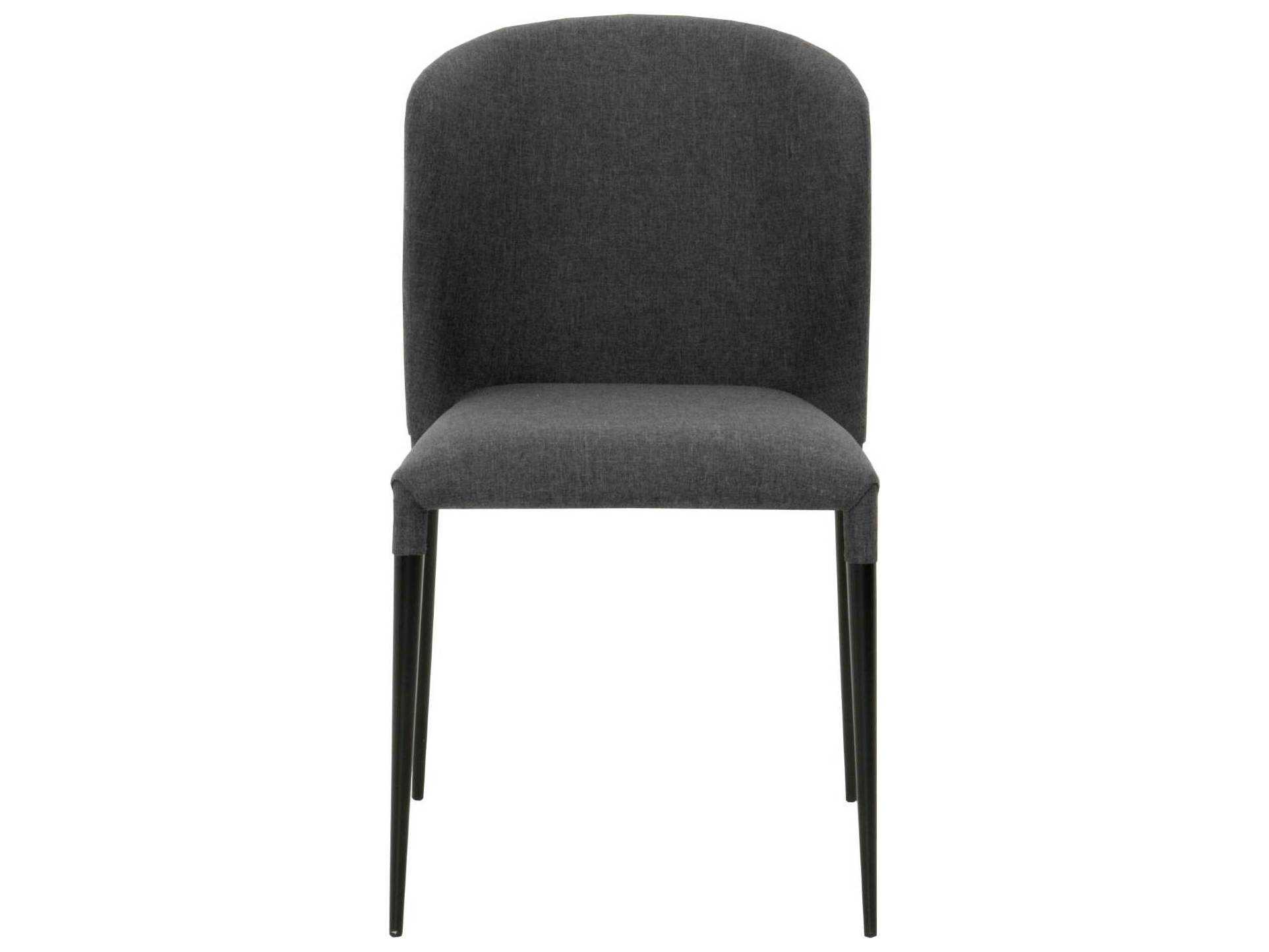 Star International Furniture Meridian Dason Matte Black Charcoal Fabric Metal