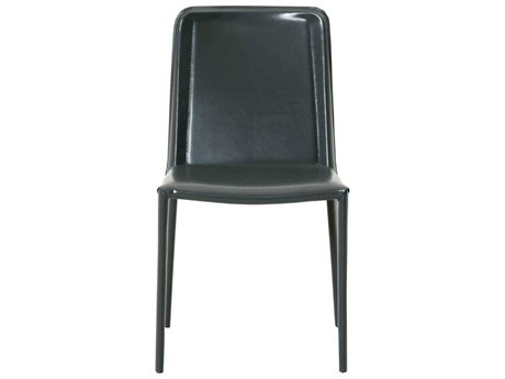 Star International Furniture Meridian Clayton Shiny Grey Bonded Leather Dining Side Chairs (Sold in 2)