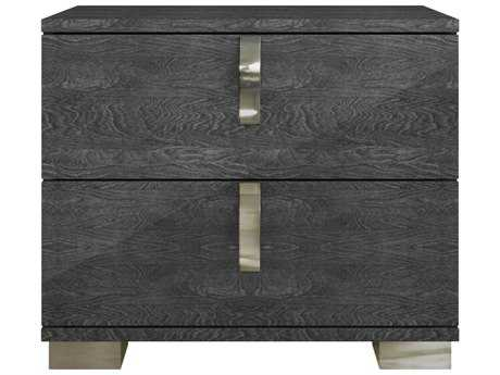 Star International Furniture Vivente Noble Grey Birch High Gloss Acrylic Lacquer 27'' x 16'' Nightstand