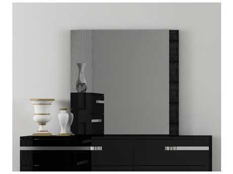 Star International Furniture Vivente Lustro Black High Gloss 51'' x 40'' Dresser Mirror