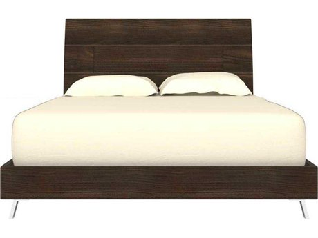 Star International Furniture Vivente Bruno Matte Smoked Walnut Queen Platform Bed