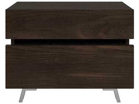 Star International Furniture Vivente Bruno Matte Smoked Walnut 26'' x 17'' Nightstand