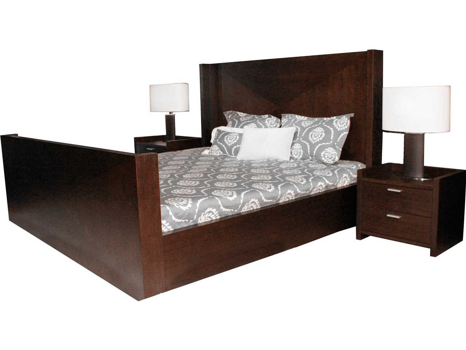 Star international furniture xena shelter dark walnut king for International decor bed
