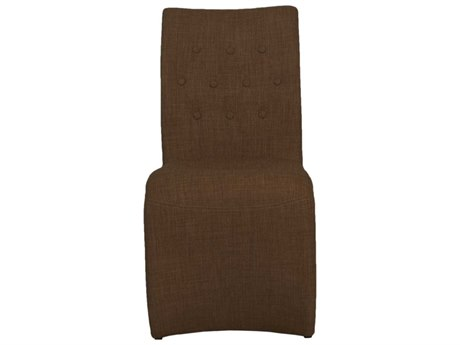 Star International Furniture Regis Forma Set of Two Brown Woven Fabric Dining Side Chairs