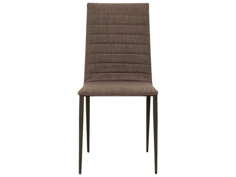 Star International Furniture Regis Marino Set of Four Matte Black Grey Fabric Dining Side Chair