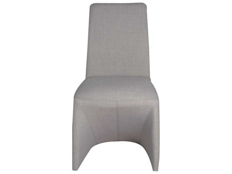 Star International Furniture Regis Galla Stone Set of Two Grey Baseball Stitching Dining Side Chairs