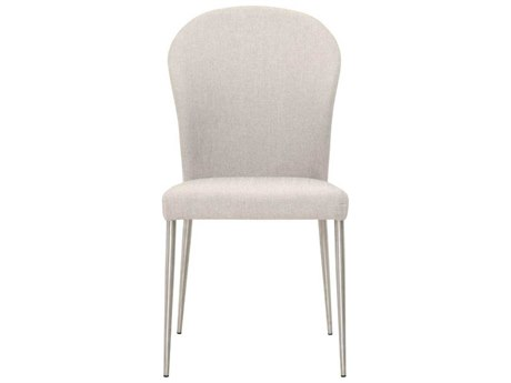 Star International Furniture Regis Hyde Stainless Steel Cement Fabric Metal Dining Side Chairs (Sold in 2)
